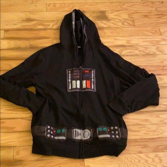 Star Wars black full front zip hoodie